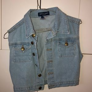 american apparel short sleeve denim jacket